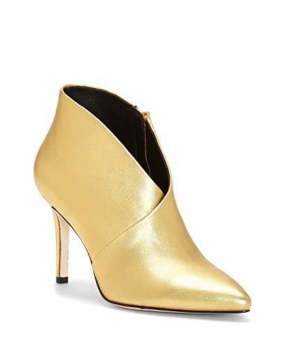 - Jessica Simpson Women's Layra Karat Gold Metallic Italia Nappa 7.5 M US