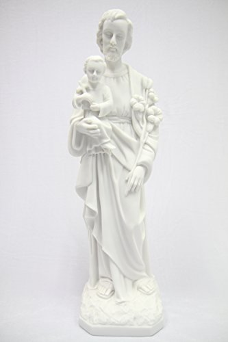 19'' Saint St Joseph with Holy Child Jesus Baby Catholic Religious Statue Sculpture Vittoria Collection Made in Italy Indoor Outdoor Garden by Vittoria Collection