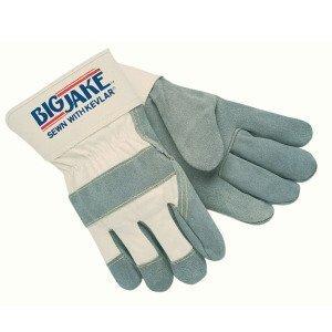 Heavy-Duty Side Split Gloves - big jake side leather palm gloves gunn cut 2- [Set of 12]