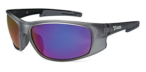 Typhoon Men's Tropic Storm Polarized Iridium Wrap Sunglasses, Frost Clear/Aquaview Meridian Blue, 78 - Typhoon Eyewear