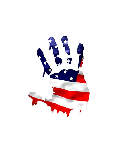 Flag Hand/ This Decal Symbolizes All the People That Are Suffering in America Due to No Job or No Health Care or for Whatever Reason You Are Suffering ()