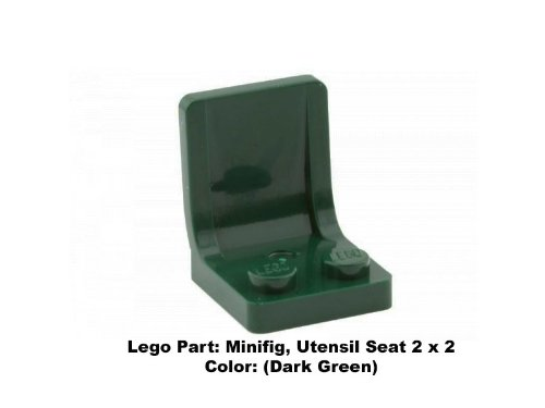 Lego Parts: Minifig, Utensil Seat 2 x 2 (Dark Green) (Star Wars Dropship)