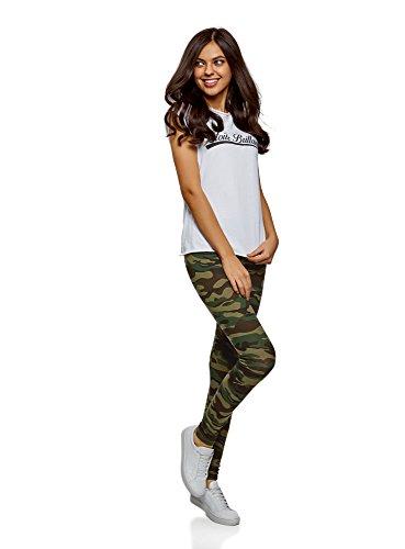 oodji Ultra Femme Legging en Coton Imprimé