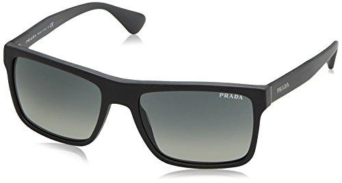 Authentic Prada Sunglasses (Prada PR01SS Sunglasses TV42D0-57 - Brushed Matte Grey Frame, Light Grey Gradient Dark Grey)
