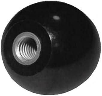 Boule Bouton M 5/ /Filetage DIN 319/ -Quantit/é au choix /Acier inoxydable/ //Ø 20/mm/ /Noir
