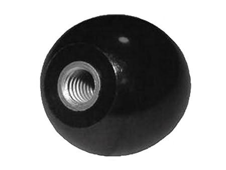 Kugelknopf M 12 - Ø 50 mm - DIN 319 - Stahlgewinde - schwarz - MENGE wählbar, Menge:2 STÜCK FKAnhängerteile