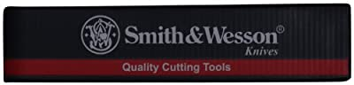Smith & Wesson. SWHRT9B 9in Stainless Steel Fixed Blade Knife with 4.7in Dagger Point Blade and TPE Handle for Outdoor Tactical Survival and Everyday Carry