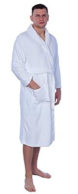 Men's Plus Size Plush Soft Warm Fleece Long Bathrobe Robe