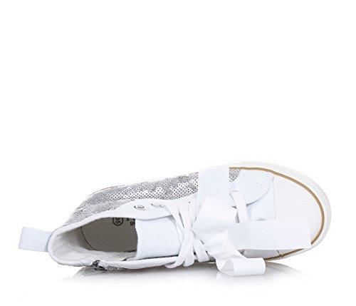 Paillettes La En Originale À Mode Twin Tissu Argent Femme Fille Lacets set Sneaker Filles Femmes cYznfq4