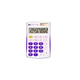 Calculadora de Mesa, CIS, 41.7602, Branco/Lilás