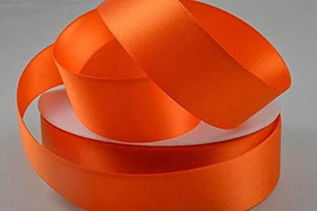 7mm Orange 15 Meters Organza Ribbon
