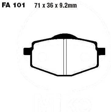 Bremsbelag hinten EBC standard TT 3YF4 3YF FA101TT f/ür Yamaha XTZ 660 H Tenere 1992 Bj