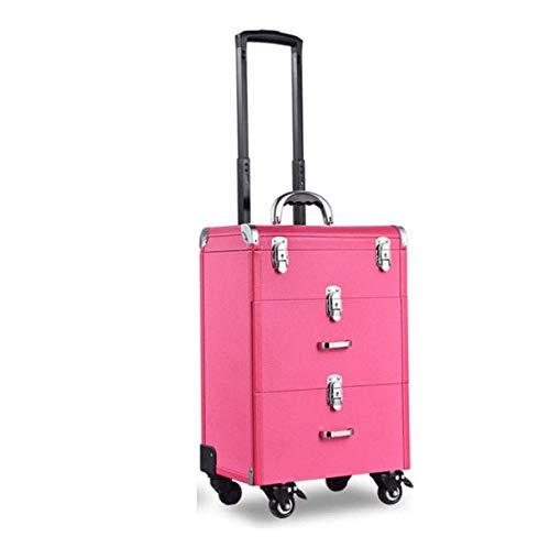 化粧箱、大容量ライチタイロッド化粧品ケース、美容化粧ネイルジュエリー収納ボックス : (Color ピンク) : (Color ピンク) B07NYXR62G ピンク, ゆーとぴあ猫用品専門店:2e1b9102 --- itxassou.fr