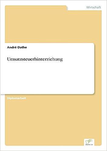 Umsatzsteuerhinterziehung (German Edition)