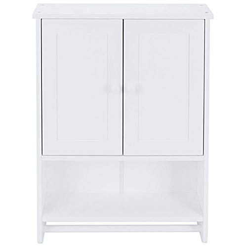 PrettyDate Two-Door Wall Cabinet, for Home Kitchen/Bathroom/Laundry