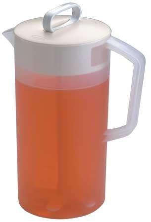 Beverage Pitcher, 2 qt. Polyethylene Almond