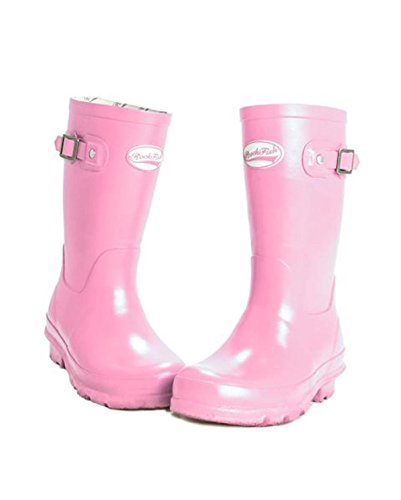 Girl Natural Kids Boots Supapink on Boy Rockfish Rubber Wellington Easy Slip Off HSqpXC