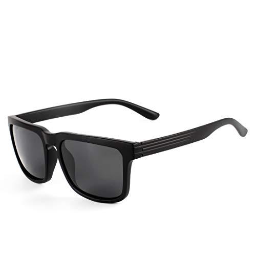 Sakuldes los Gafas de Black Color la Black de Vintage protección de Black polarizadas Lens Sol de Gafas Sol Hombres Frame Ultravioleta Lens Frame Black O4IqO8r