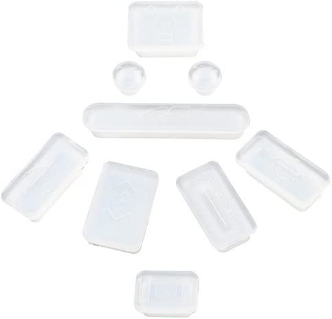 Clear eForCity/® 9-pieces Anti-dust Silicone Plug Cup Compatible With Apple/®MacBook/® Pro