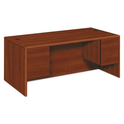 10700 Series Desk, 3/4 Height Double Pedestals, 72 x 36 x 29 1/2, Cognac, Sold as 1 Each by Generic