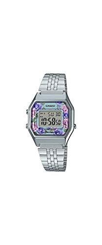 Casio LA680WA-2C Women's Vintage Floral Dial Alarm Chronograph Digital Watch ()