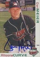Dan Meier Altoona Curve - Pirates Affiliate 2002 Grandstand Autographed Card - Minor League Card. This item comes with a certificate of authenticity from Autograph-Sports. Autographed