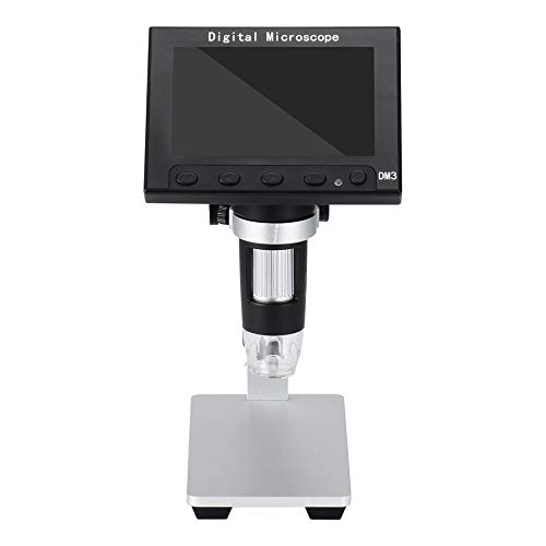 camellia-uk DM3 Digital USB Microscope 5MP 1000X Digital Electronic Microscope 4.3' Display Magnifier with LED Light 1920X1080p