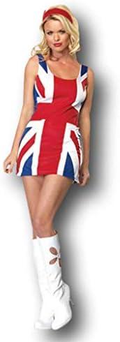 Rubber Johnnies TM Vestido Bandera Reino Unido Adulto Ginger Spice ...