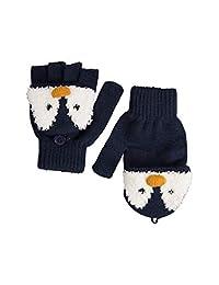 Mountain Warehouse Penguin Knitted Kids Glove - Warm Winter Glove