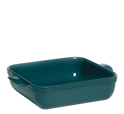 (Emile Henry Made In France 9 by 9-Inch Square Baker, Blue Flame)