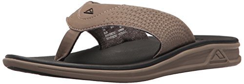 Reef Men's Rover Flip Flop, Tan/black, 4 M US