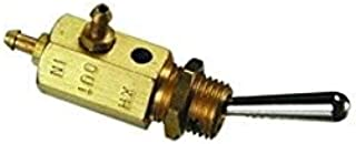 product image for Clippard SMTV-3 3-Way Normally-Closed Toggle Spool Valve, Enp Steel Toggle, 4 Colors of Snap-On Push Buttons Included with Each Valve