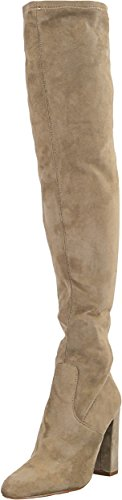 Steve Madden Women's Emotions Over The Knee Boot, Taupe, 10 M (Junior Suede Boot)