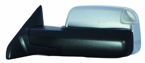 Depo 334-5419L3ECH1 Dodge RAM 1500/2500/3500 Driver Side Chrome Heated Power Towing Mirror with Memory, Turn Signal, Puddle Lamp