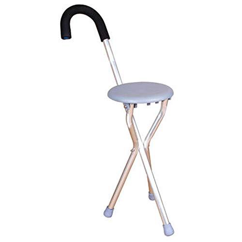 Walking stick stool Stockhocker, Rutschfester, zusammenklappbarer Stock des Alten Mannes, vierbeiniger Stock