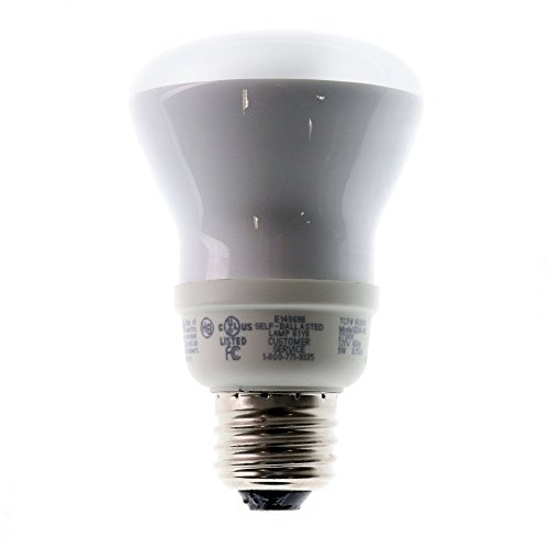 TCP Lighting 1R2009 Compact Fluorescent CFL Spiral Bulb E26 120V 9W 2700K, White