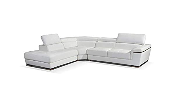 Amazon.com: 2383 Leather Left Hand Facing Sectional Sofa in ...