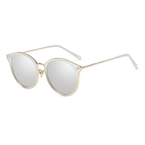 Zeraca Women's Fashion Cat Eye Cutout Polarized Sunglasses (Gold Frame Silver Lens) by zeraca (Image #1)