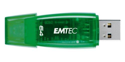 EMTEC C400 Candy II Series 64 GB USB 2.0 Flash Drive, Green
