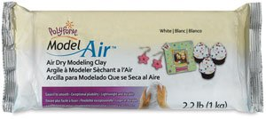 (Model Air Dry Modeling Clay, White)