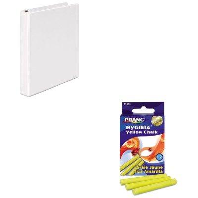 (KITDIX31344UNV20962 - Value Kit - Prang Hygieia Dustless Board Chalk (DIX31344) and Universal Round Ring Economy Vinyl View Binder (UNV20962))
