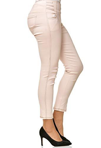 usag Taille Jeans en Nude Haute Femmes pour Denim Pantalon D2490 TWq011