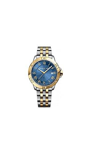 Raymond Weil Tango Blue Dial Two-tone Mens Watch 8160-STP-00508