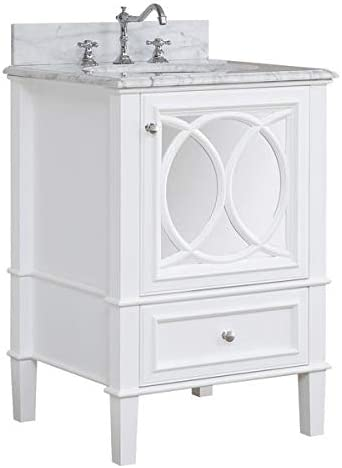 Amazon Com Olivia 24 Inch Bathroom Vanity Carrara White
