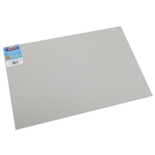 "Bulk Buy: Darice Foam Sheet 12""X18"" 2mm-Gray 1040D-46"