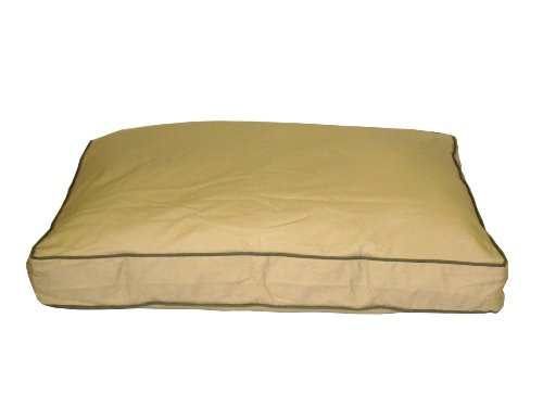 Cpc Classic Twill Medium Rectangular Pet Bed, Khaki