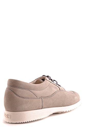 Hogan Mannen Mcbi148399o Grijs Suède Sneakers