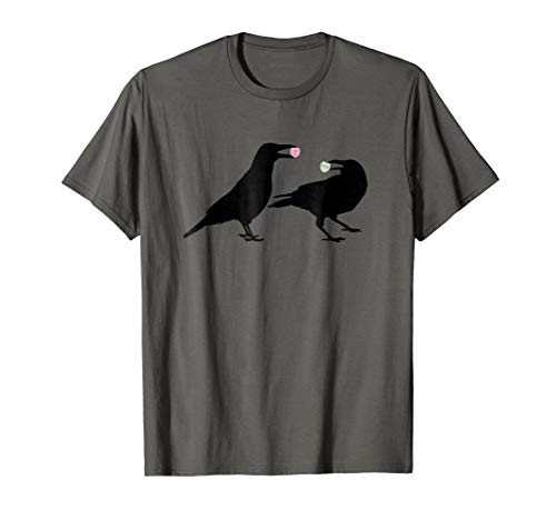 Candy Heart Valentine Crows T-Shirt