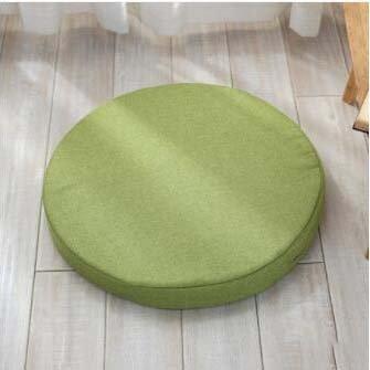 (High-Density Sponge pad,Round Cushion Chair Cushions Seat Cushioning Wicker Chair Cushion Yoga mat Fabric Thickening Cushioning-G diameter60cm(24inch))