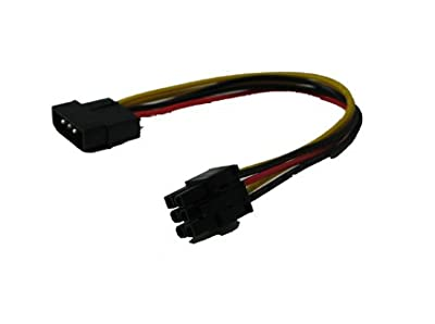 4 Pin Molex to 6 Pin PCI-Express PCIE Video Card Power Adapter Converter Cable